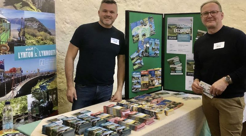 Gregg & Jason at the Visit Exmoor 2020 Networking Event - VL&L Display Stand