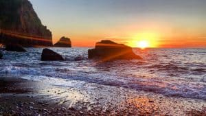 Lynton Lynmouth Romance Sunset Beach