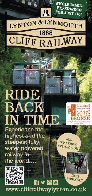 Lynton & Lynmouth Cliff Railway leaflet