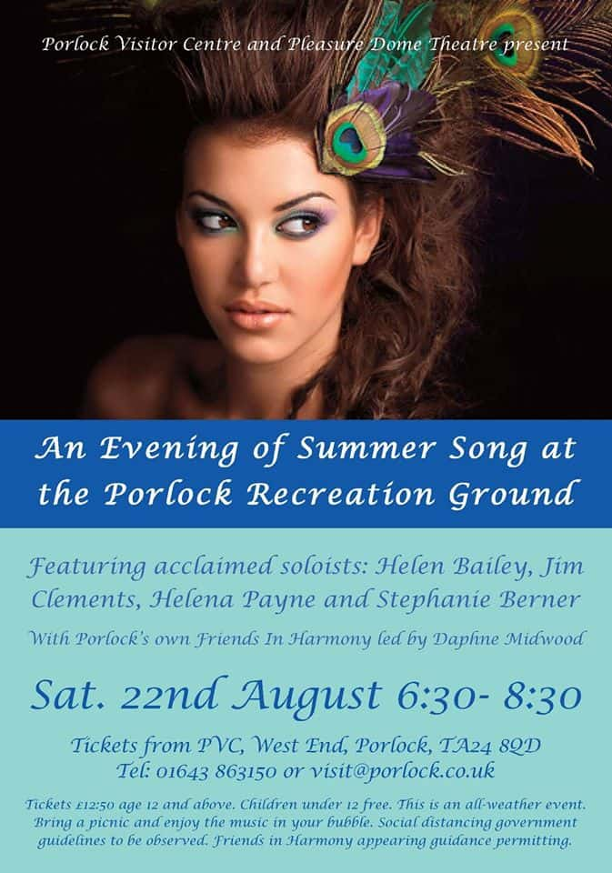 An Evening of Summer Song at the Porlock Recreation Ground