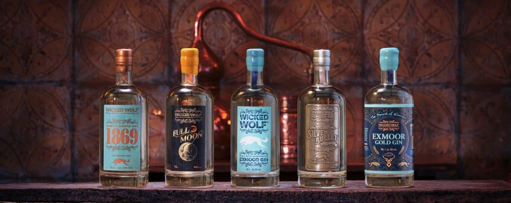 Wicked Wolf Gin Lynton Lynmouth