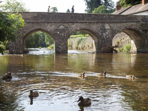 Exmoor National Park Dulverton Bridge