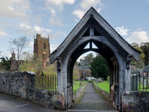 Exmoor National Park Dunster Church Lytch Gate