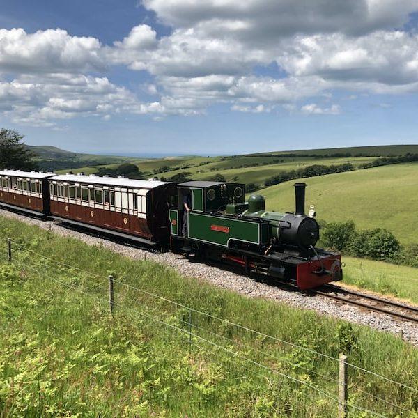 Woody Bay Steam Train2